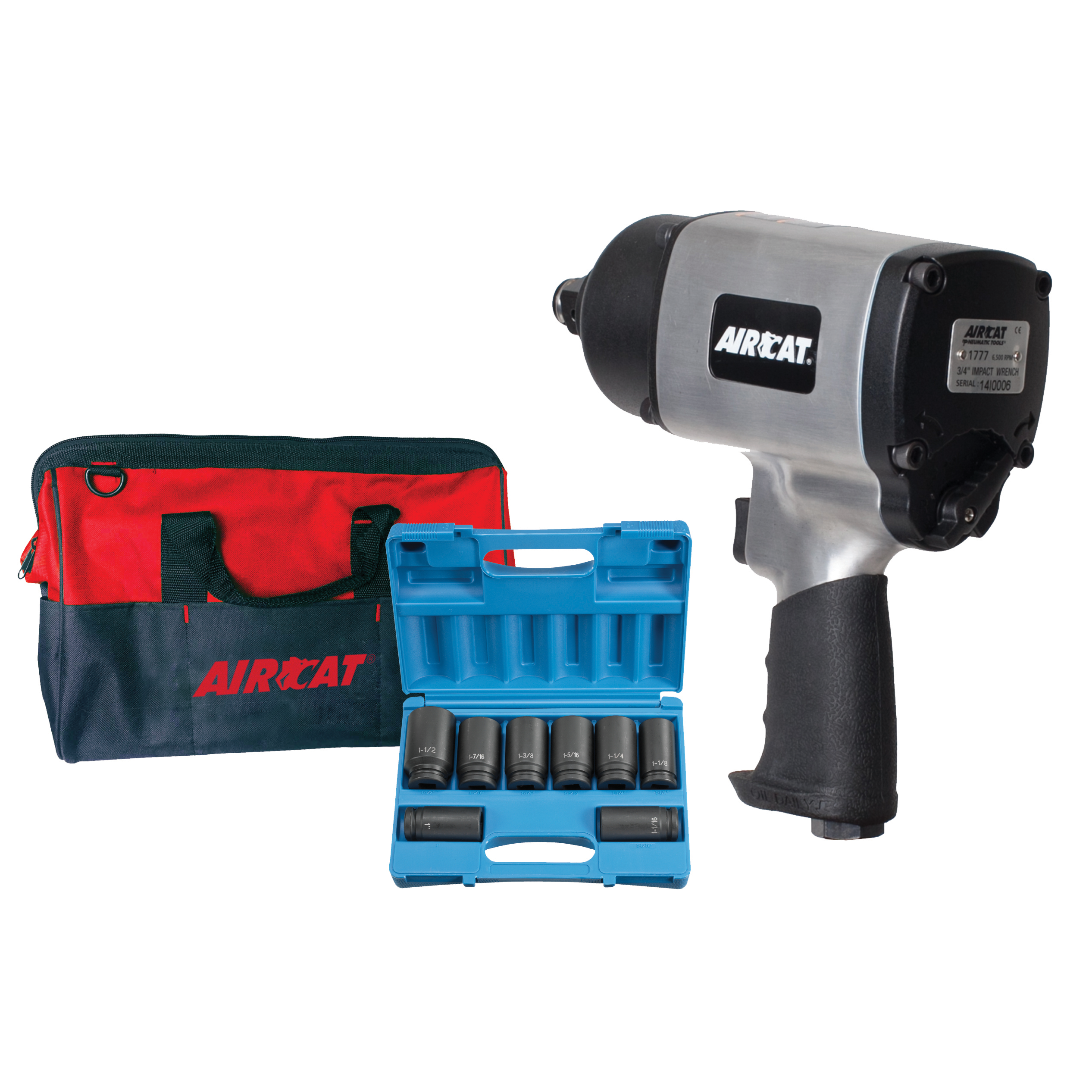 """3/4"""" """"Super Duty"""" Impact Wrench Kit"""